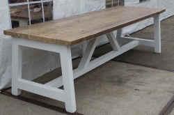 Eettafel Wit Hout : Langetafel wittetafel lange witte tafel kloostertafels